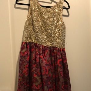 Anthropologie holiday dress